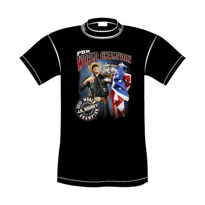 c54e0b8a J.B. Mauney 2013 World Champion T-Shirt | Professional Bull Riding ...
