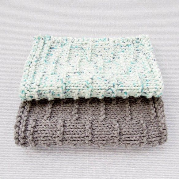 Tutorial : Dashed Stripe Knitted Facecloth | Easy knitting ...