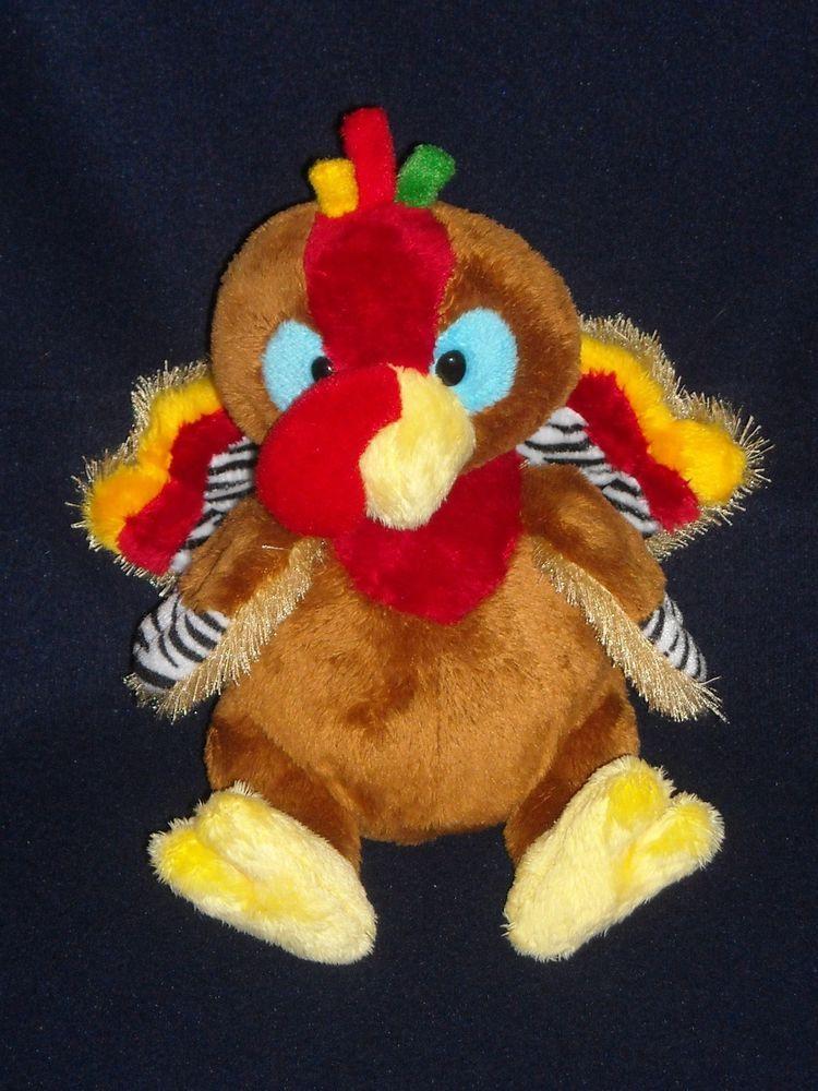 8 Turkey Ganz Webkinz Stuffed Animal Plush Toy Na Christmas