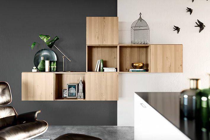 Design-Regale in Wildeiche-hell #design #regale #designelements - küchen modern design