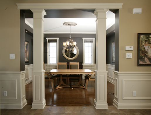 These columns are great for hiding jack post in basements for Square interior columns