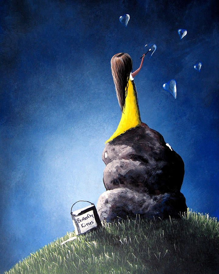 shawna erback art | ... Shawna Erback Painting - Butterfly Kisses For Life by Shawna Erback