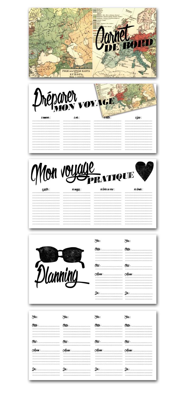 printable carnet de bord carnet de voyage travel book. Black Bedroom Furniture Sets. Home Design Ideas