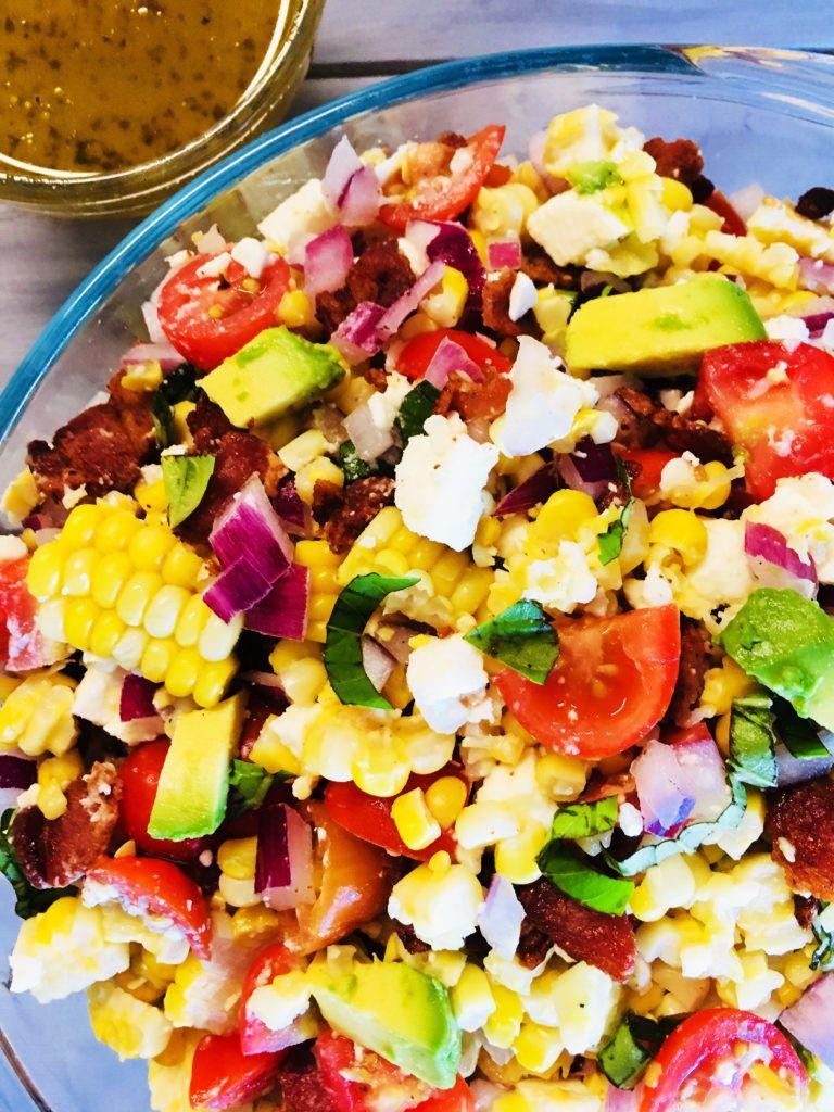 Sweet Summertime Corn Salad Recipe Fresh Basil Recipes Fresh