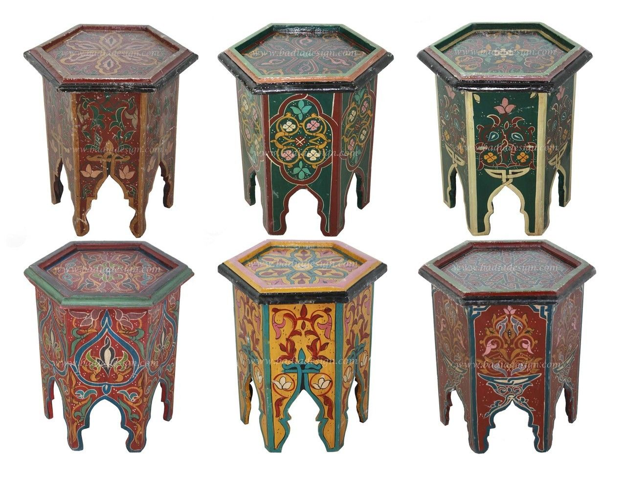 Mediterranean living room los angeles by badia design inc - Badia Design Inc Store Small Hand Painted Side Table Hp005 77 00 Http