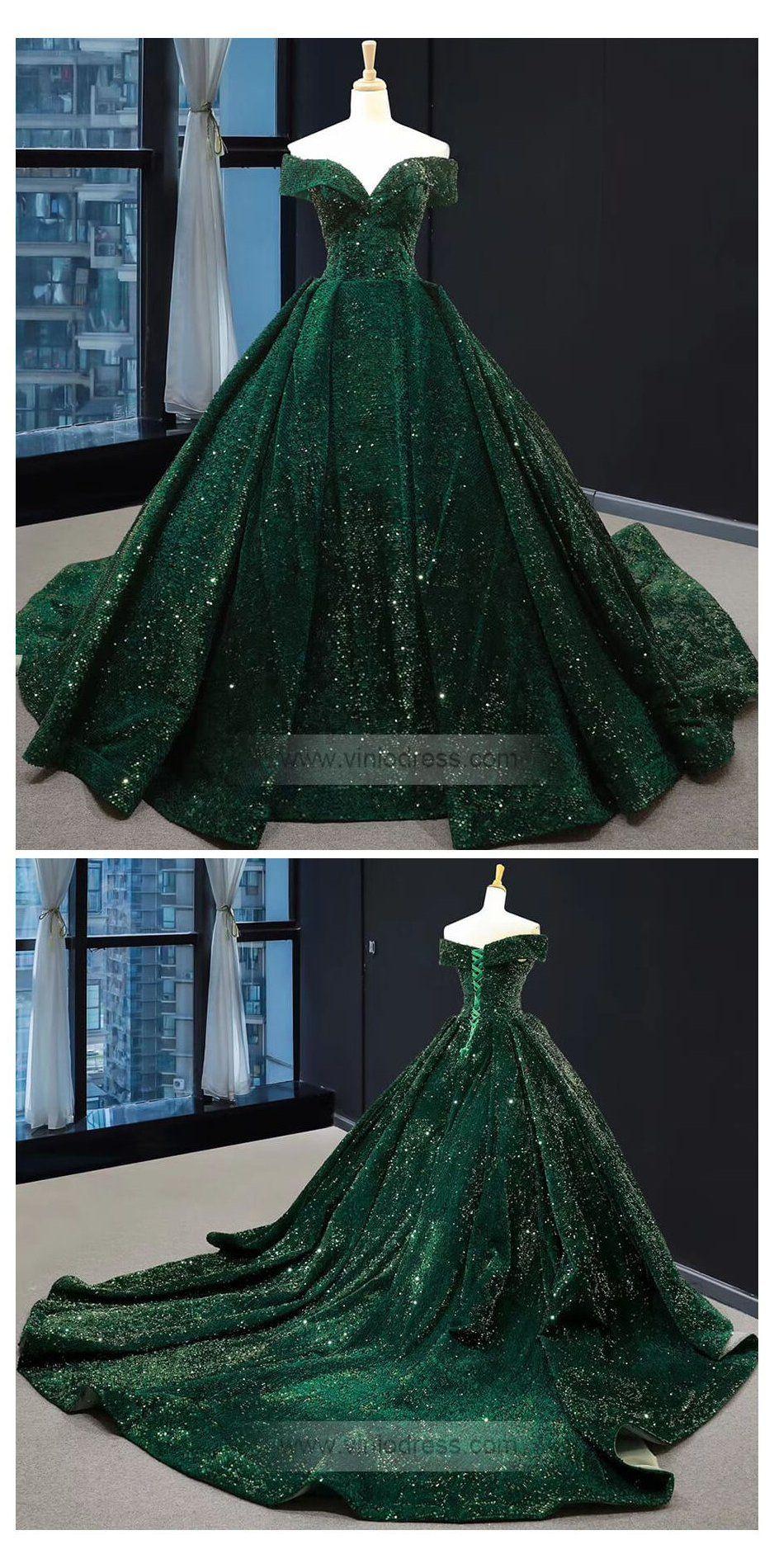 emerald green prom dress plus size