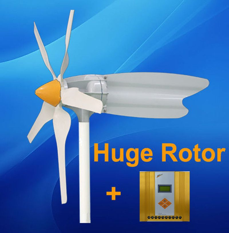 400W Small Horizontal Axis Wind Generator Turbine And 12v/24v 300w