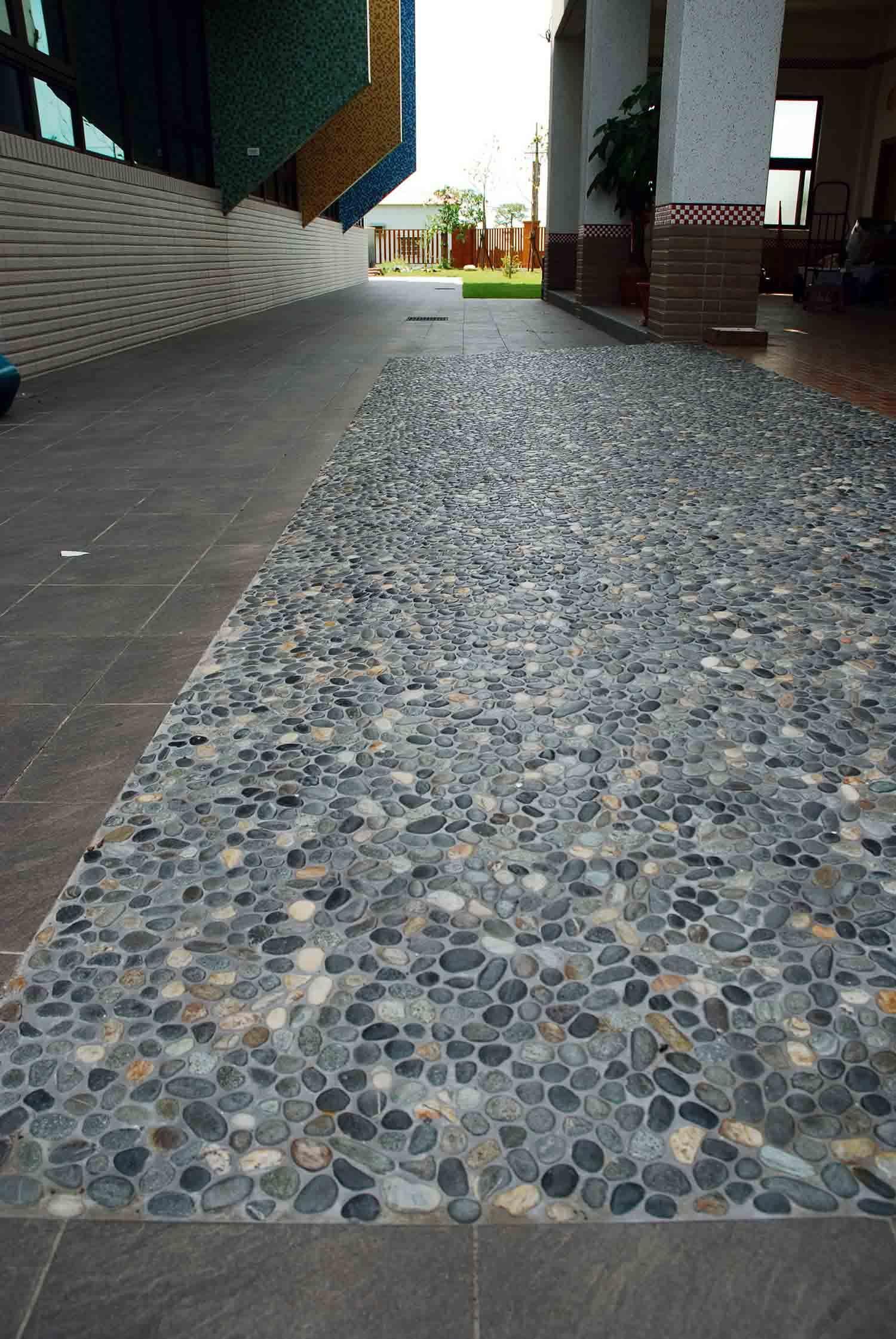 Natural Earth Pebble Tile Soapstone Tile Border Shower