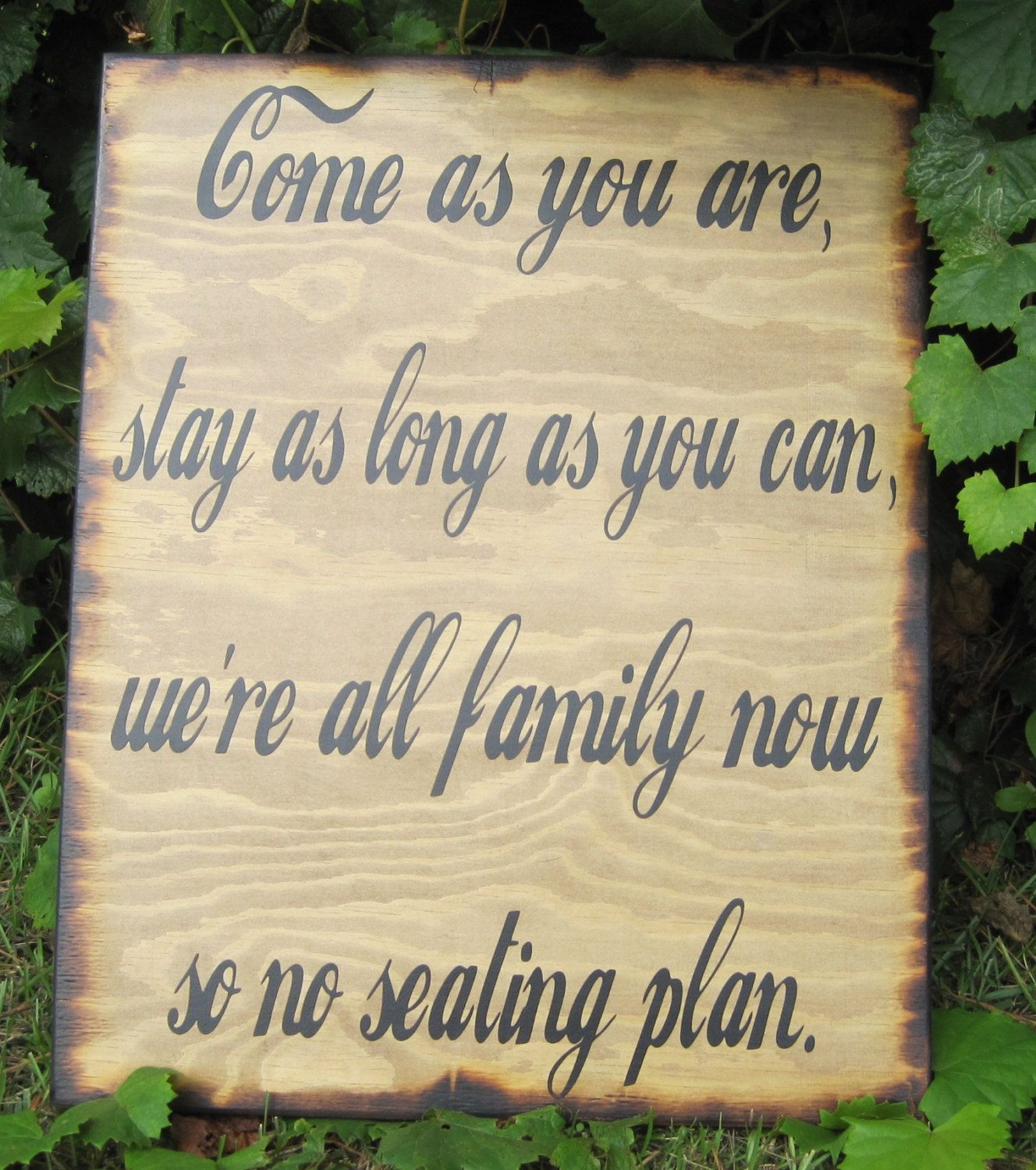 No Ceremony Just Reception: Wedding Sign Xlarge Directional Ceremony Reception Come As