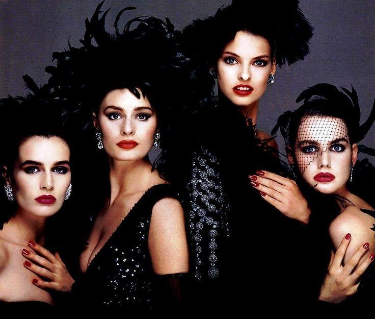Michelle Brooks, Nastasia, Linda & Sandra Zatezalo 1987