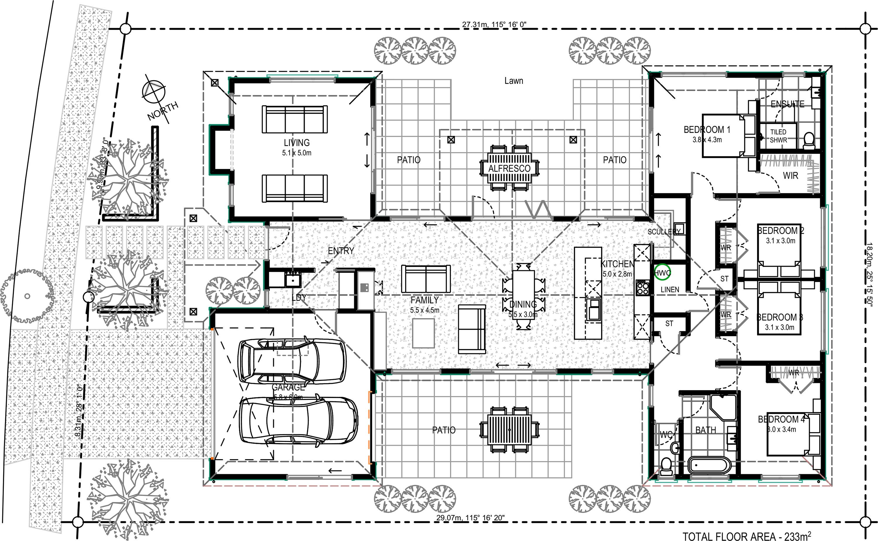 Floor Plan Friday 4 bedroom, with family, living and