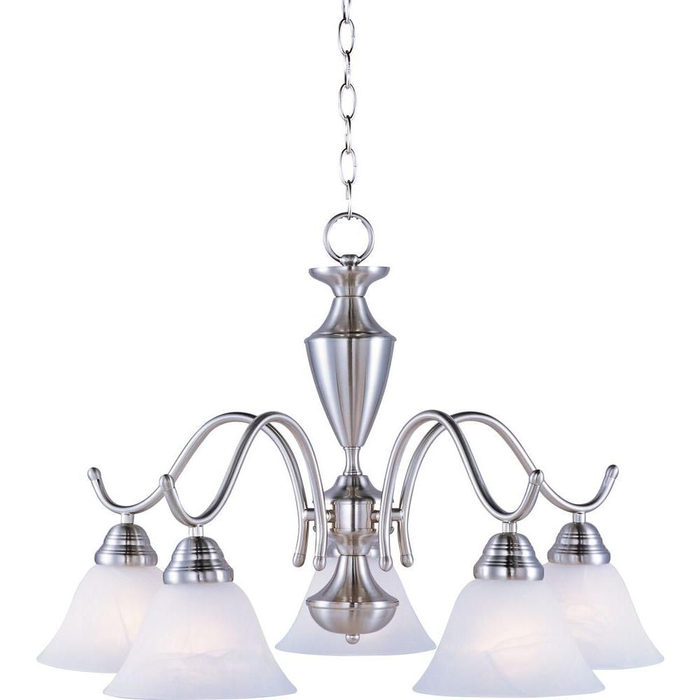 Maxim Lighting Newport 5 Light Satin Nickel Chandelier