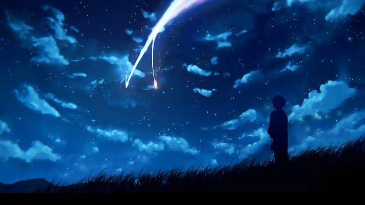 Kimi No Nawa Comet Anime Wallpaper Anime Scenery Kimi No Na Wa Wallpaper Your Name Wallpaper