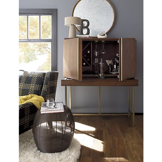 Aerie Medium Accent Table in Coffee Tables & Side Tables | Crate and Barrel - Aldo Blue Indoor-Outdoor Rug Crates, Barrels And Bar Carts