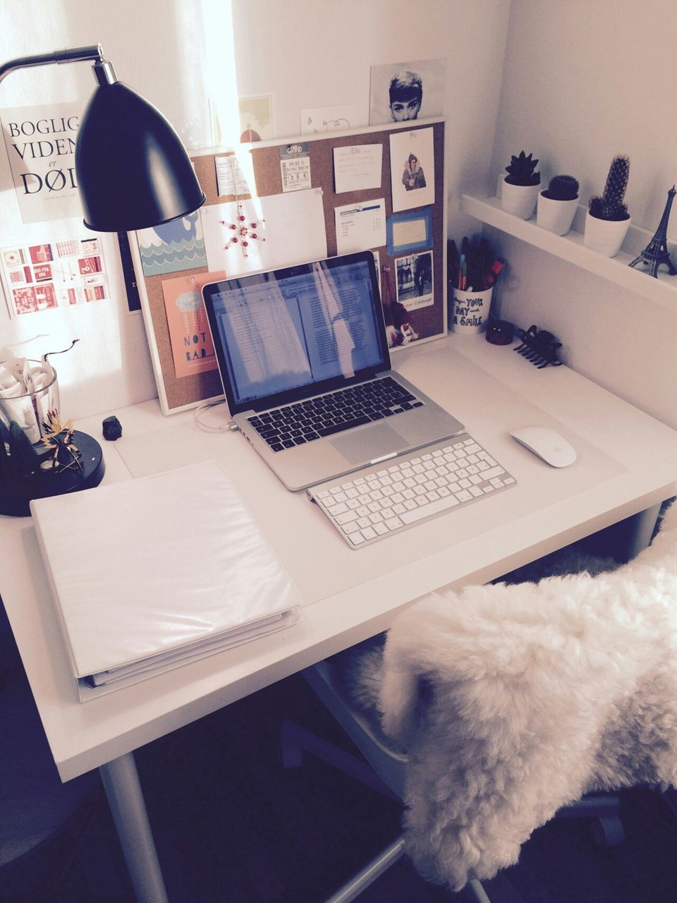 Clean Desk With Nice Photos