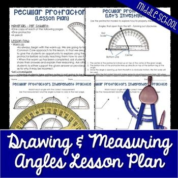 Drawing and Measuring Angles Lesson Plan | Pinterest