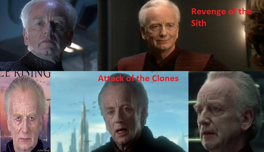 Why Palpatine looked older in Attack of the Clones than in Revenge of the Sith?