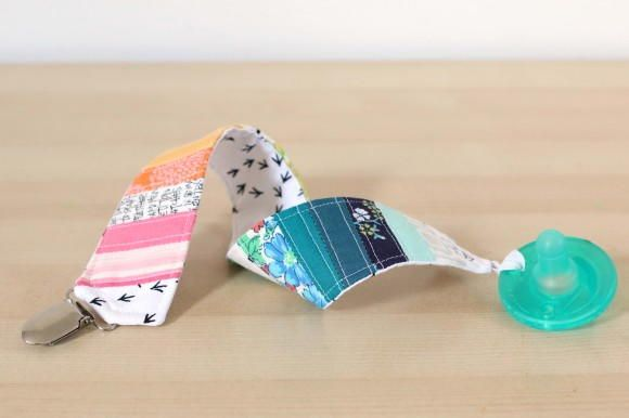 Quilted DIY Pacifier Clip | FaveQuilts.com