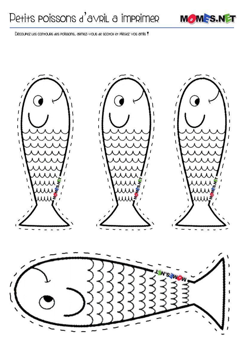 Petit poisson d avril  imprimer