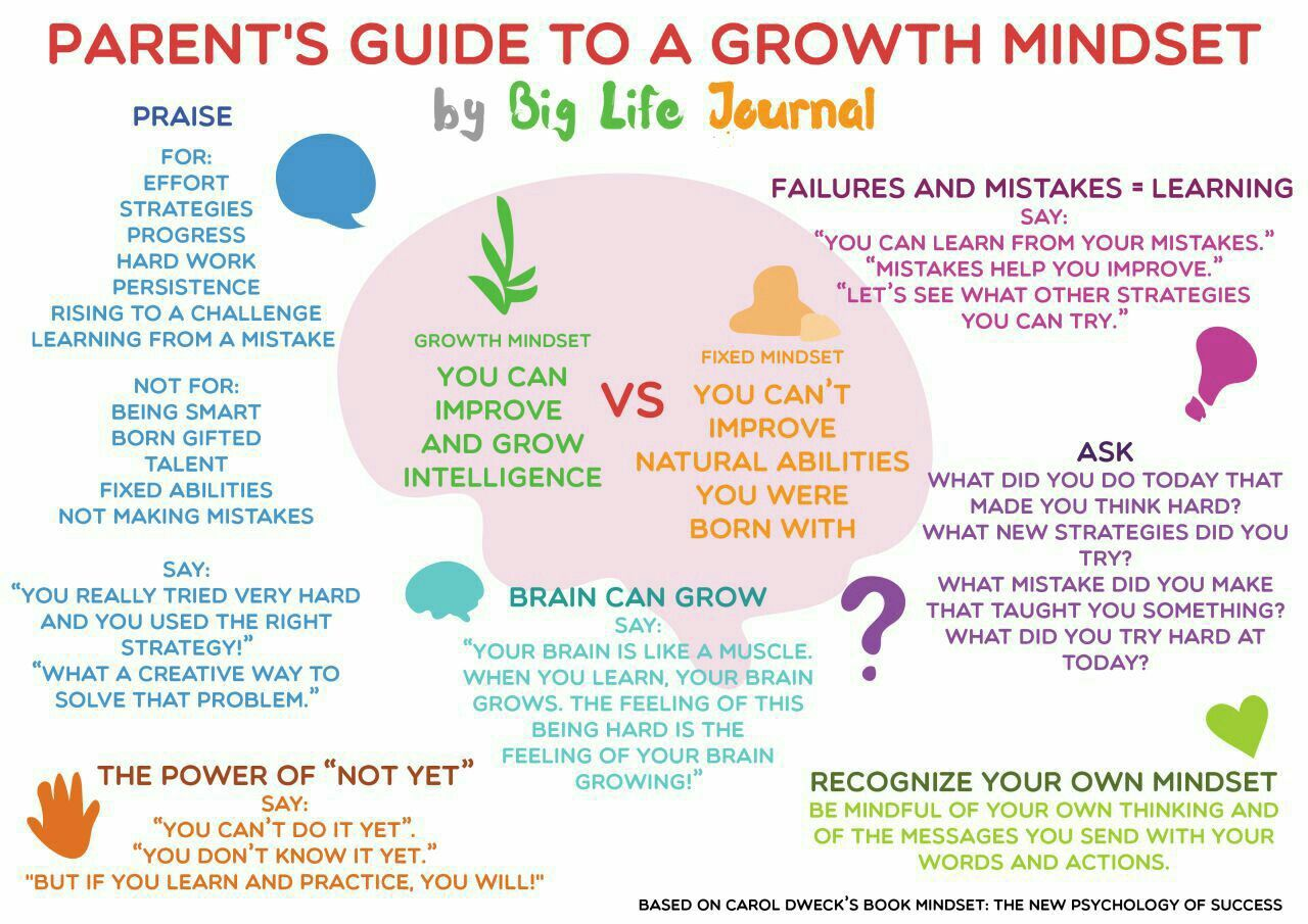 Growth Mindset For Parents Poster Or Handout