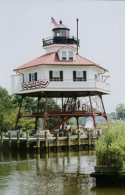Drum Point Lighthouse in Solomons Island, Maryland
