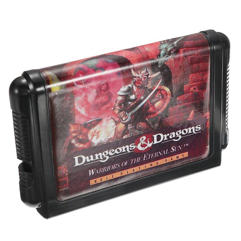 Dungeons And Dragons Cartucho De Juego De Md De 16 Bits Para Sega Md