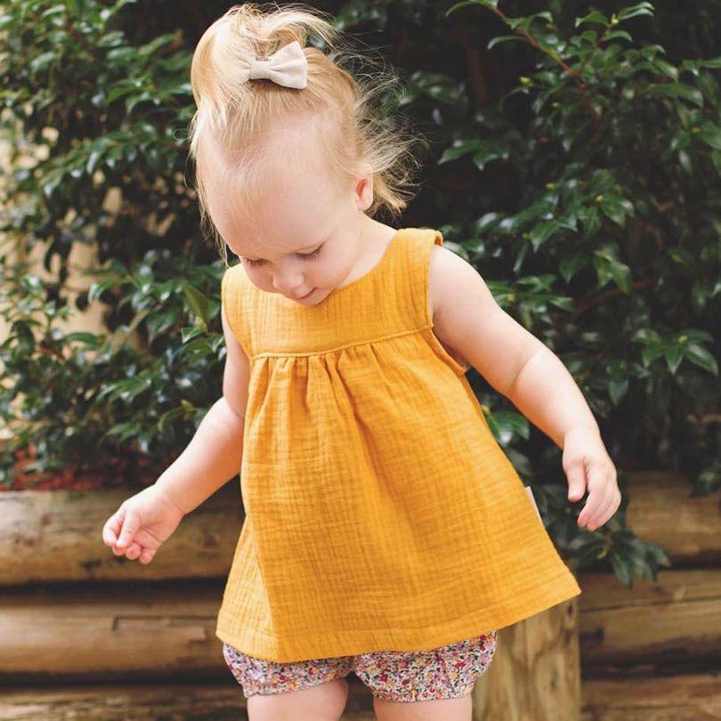 6073ea115dcc Aliexpress.com   Buy 2018 Baby Girls BOYS Summer Shorts Linen Cotton Kids  Outfits Children