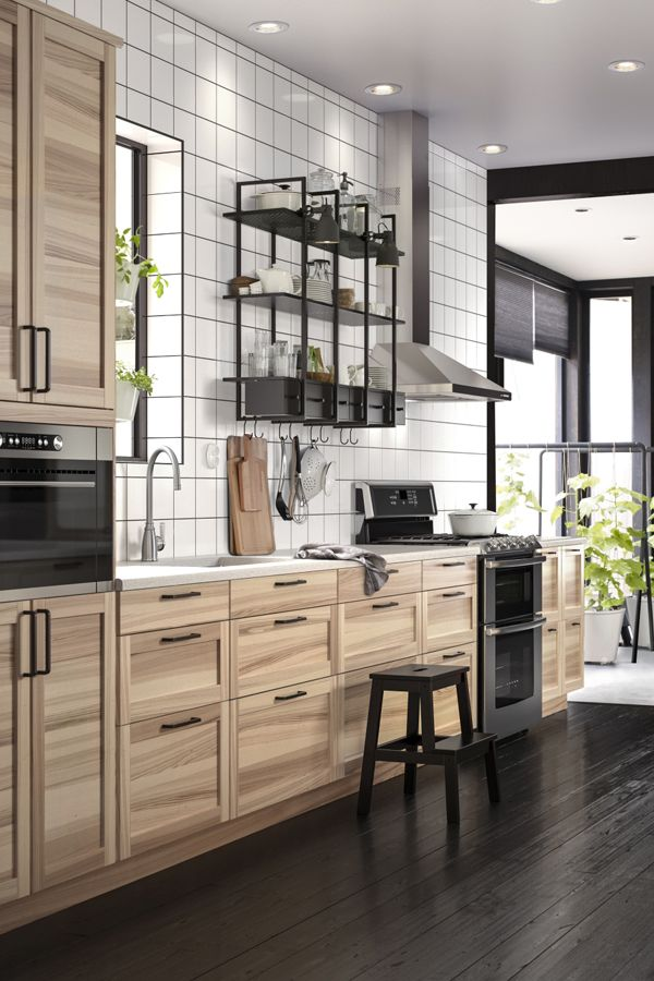 industrial kitchen with ikea sektion cabinets kitchen dining rh pinterest ca