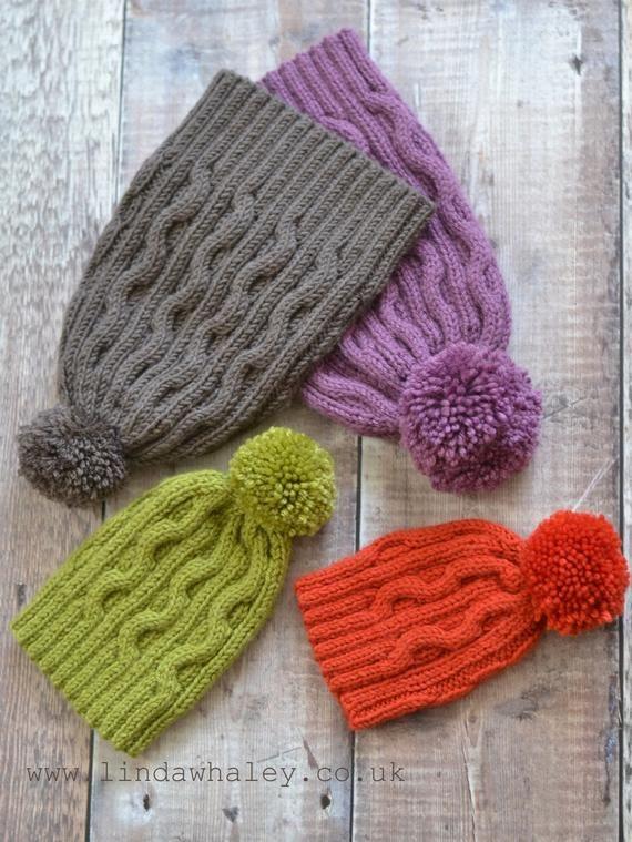Bobble Hat knitting pattern 'Autumn' | Etsy in 2020 | Hat ...