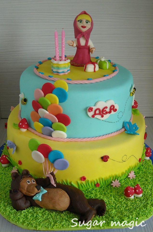 Masha And The Bear Cake Cake Pinterest Bear Cakes And Cake