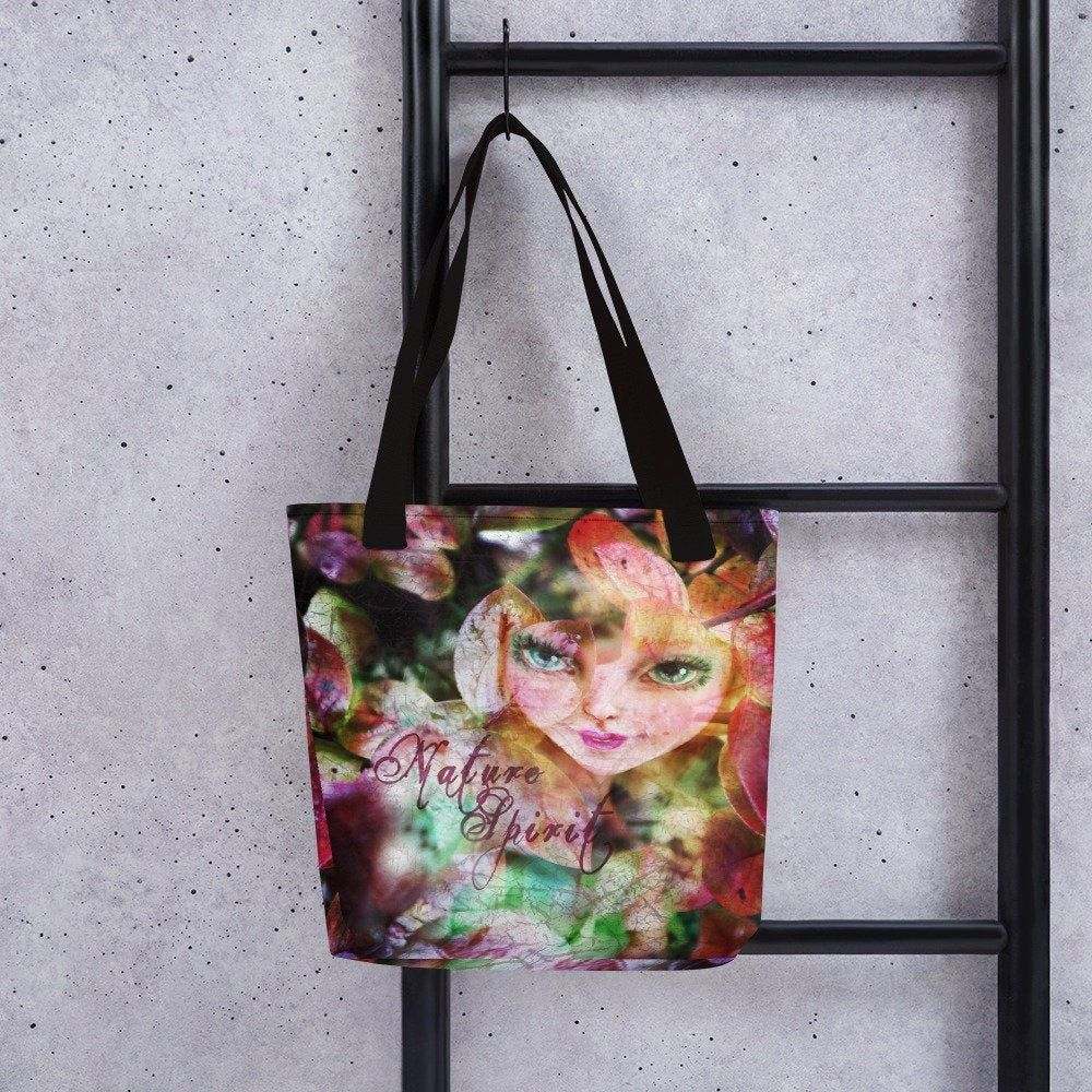 Tote Bag colorful nature spirit fairy Vintage Fairy Bag