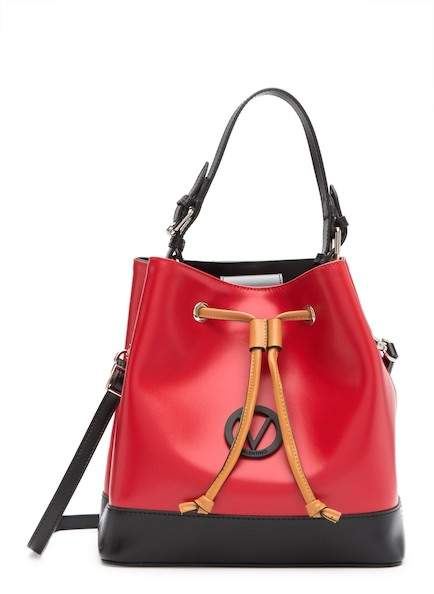 341cf8fdd512 Mario Valentino Guillame Leather Bucket Bag  ClassicLeatherHandbags Patent  Leather Handbags