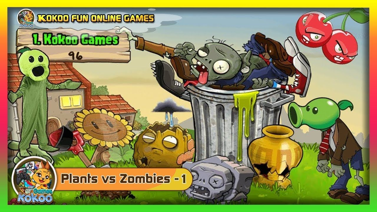 PLANTS VS ZOMBIES1 PLAYFREE LEVELS 1 2 3 4 5 GAMEPLAY