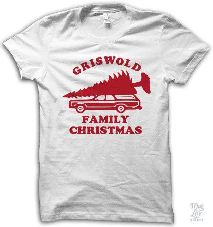 griswold family vacation digitally printed on a 100 ring spun white cotton