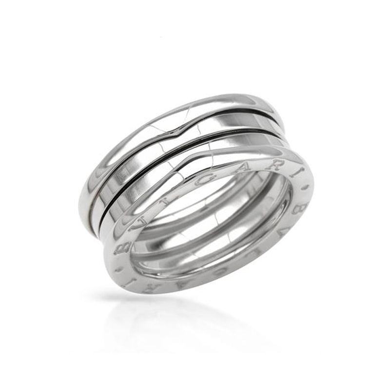 bvlgari bzero1 3band ring in 18kt white gold size 56
