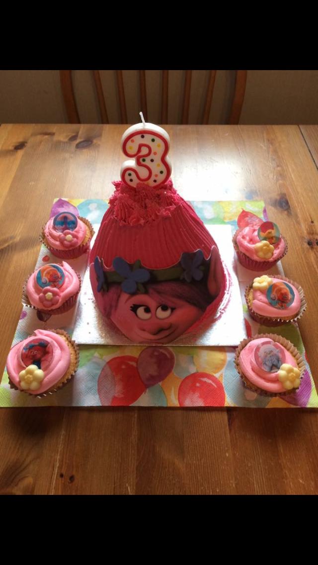 Troll Theme Cakes Large Cake Sainsburys