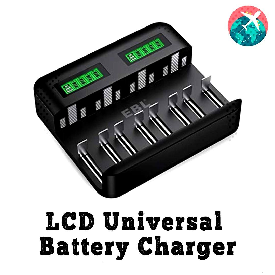 Travelaccessories Letsgoeverywhere Batterycharger Fl Universal Battery Charger Rechargeable Batteries Aaa Battery Charger