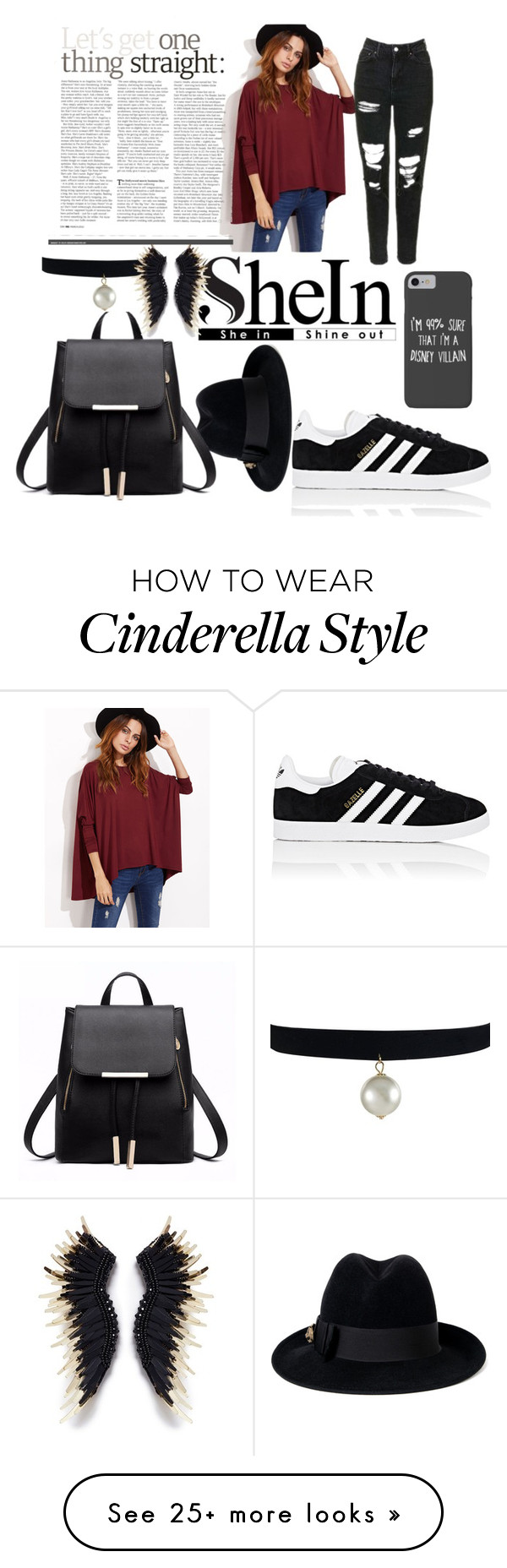 """Untitled #107"" by sashadvorovay on Polyvore featuring adidas, Disney and Gucci"