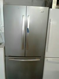 Used Whirlpool French doors refrigerator good condition