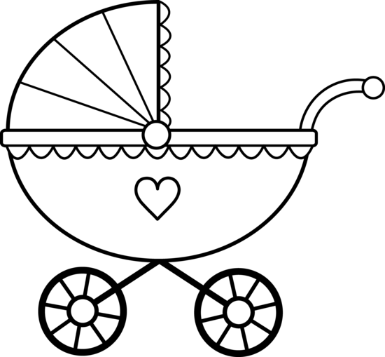 Baby Carriage Line Art Free Clip Art Baby Drawing Baby Clip Art Baby Cards Handmade