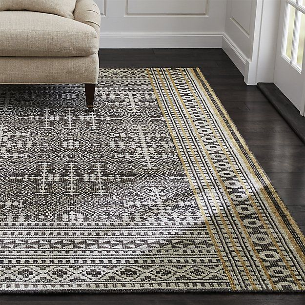 Tolliver Squares Up The Curved Flourishes Of Traditional Oriental Rug Design In Graphic Order While Retaining