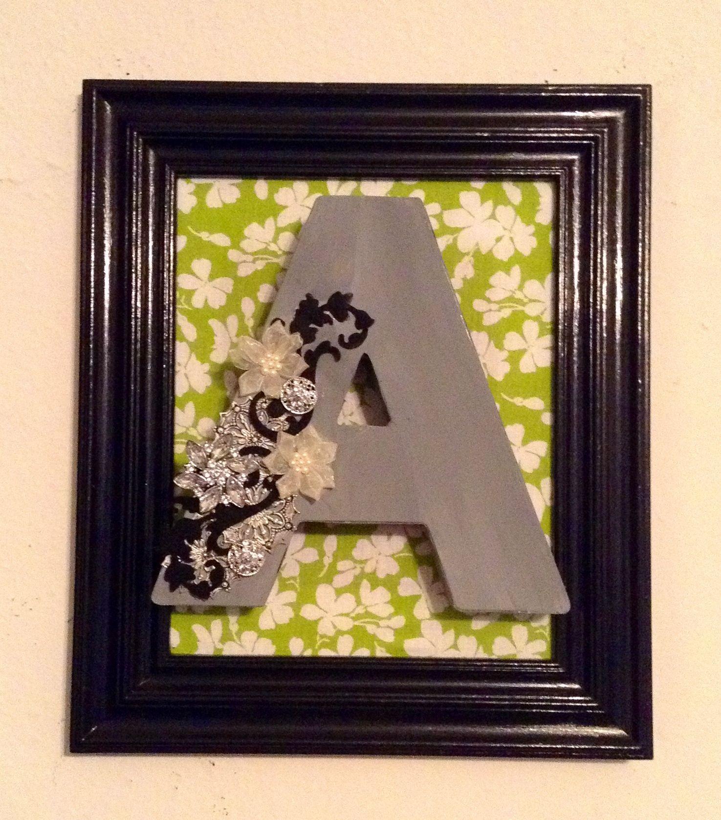 A decorated letter diy wall art diy wall art diy