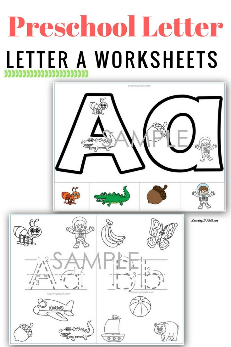 Preschool Letter A Worksheets Sample Pages | Worksheets, Learning ...