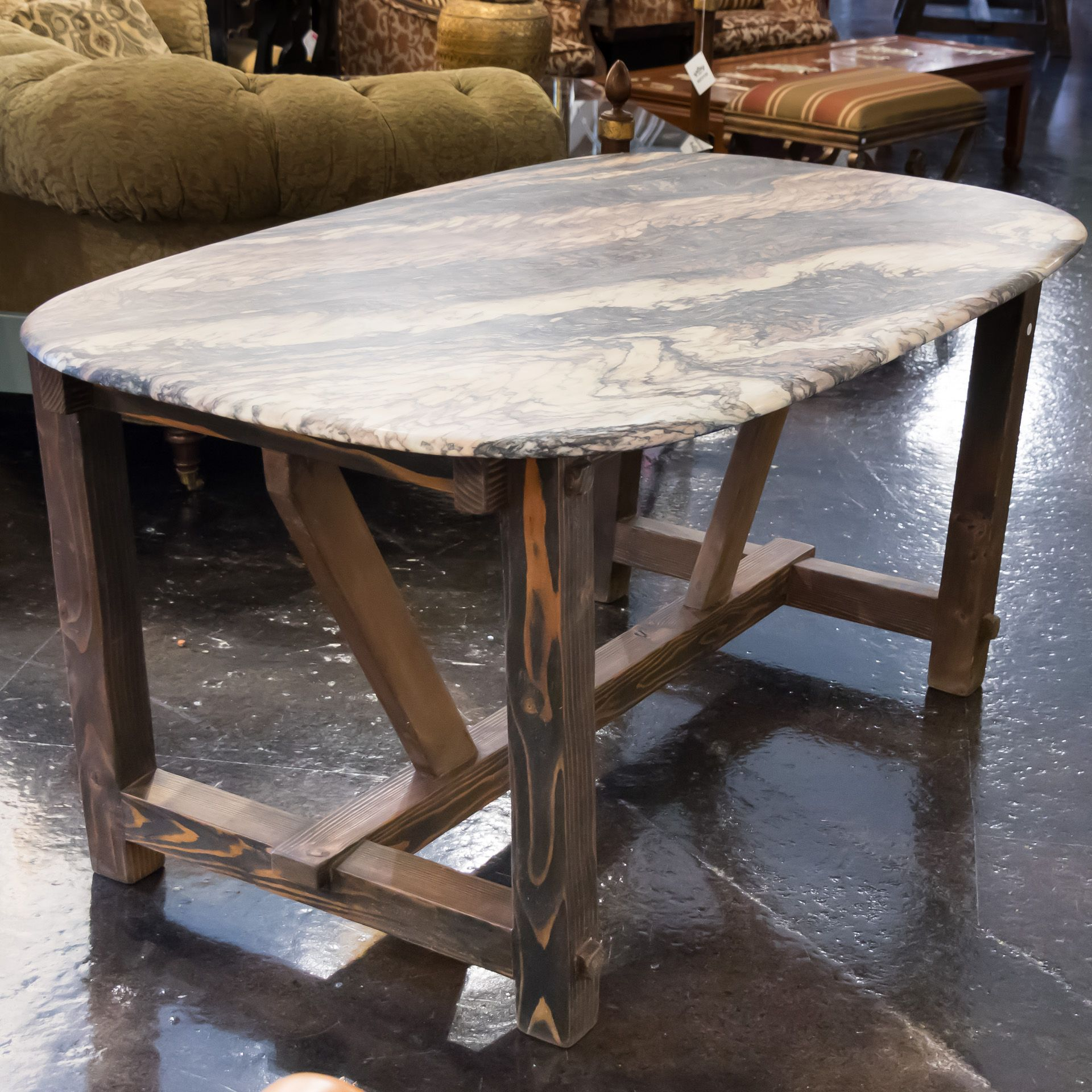 Remarkably Custom This Dining Table Has A Bold Rustic Style Base