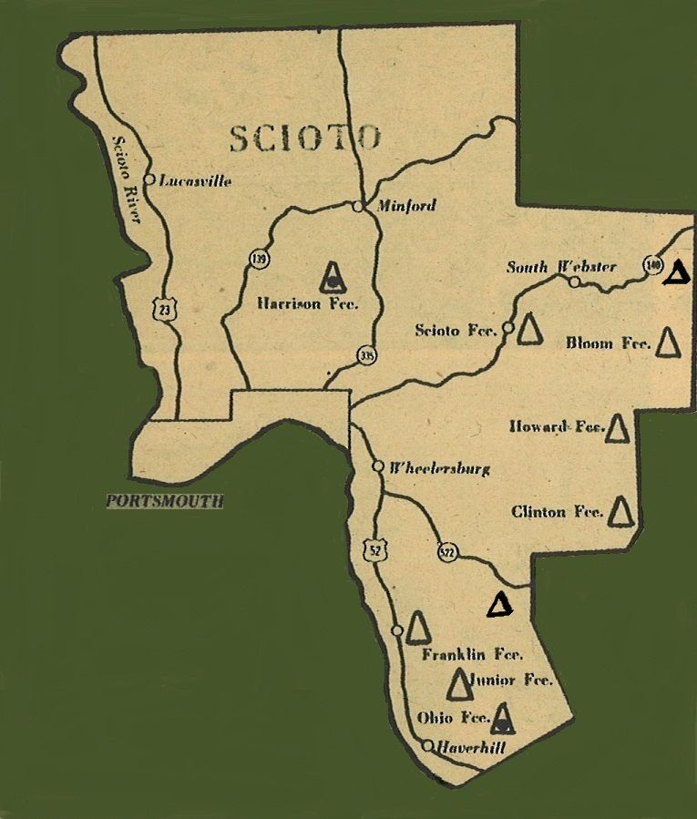 Map Of Scioto County Ohio on