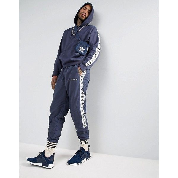 buy more photos pick up adidas Originals Adicolor TNT Tape Hoodie In Blue BS4675 ...