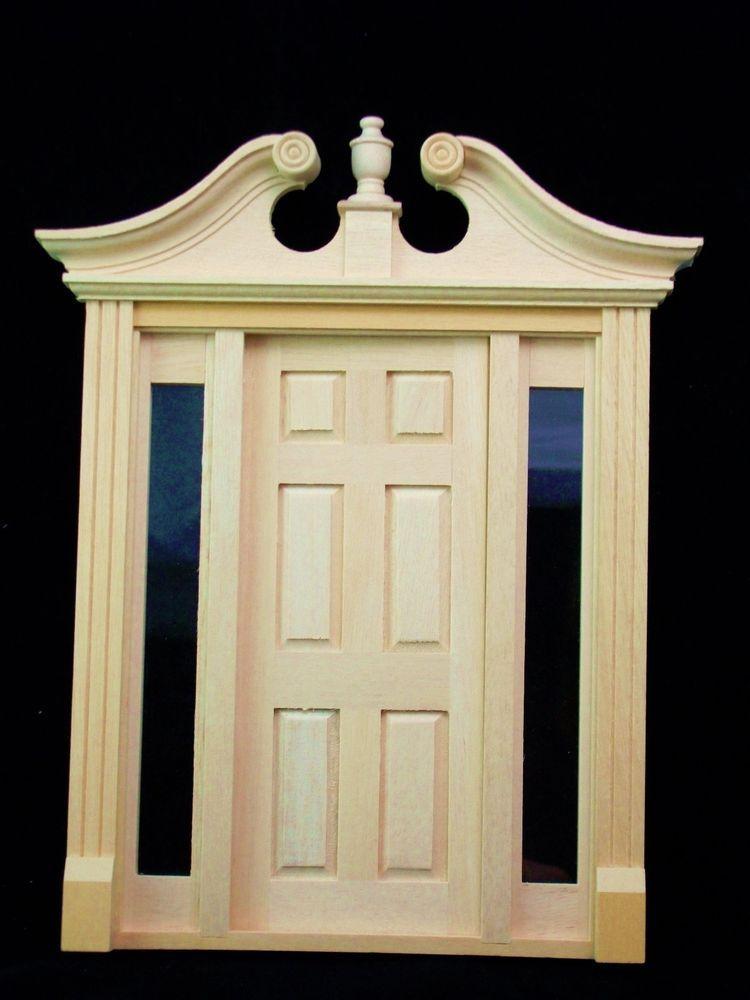 & Deerfield Door w/ Sidelights dollhouse miniature #6028