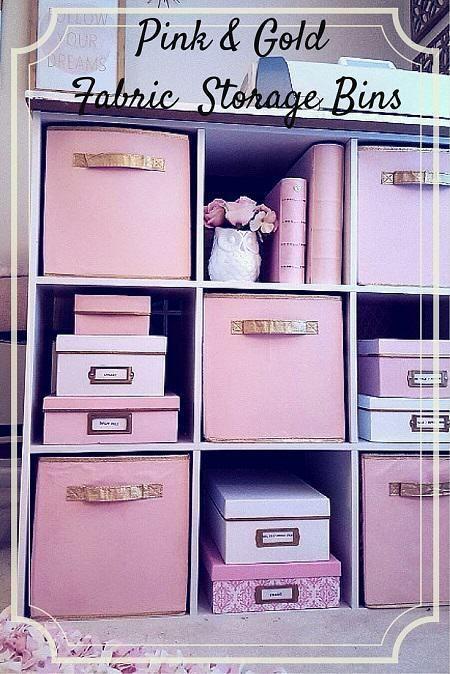Painted Fabric Storage Bin Tutorial Dorm Room Storage