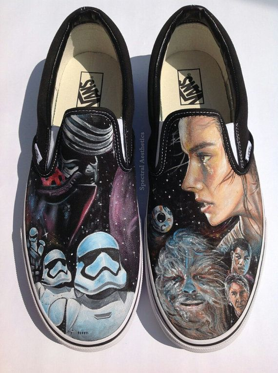 35422e4f80 Beautifully detailed Star Wars portraits on hand painted shoes. Etsy  listing at https