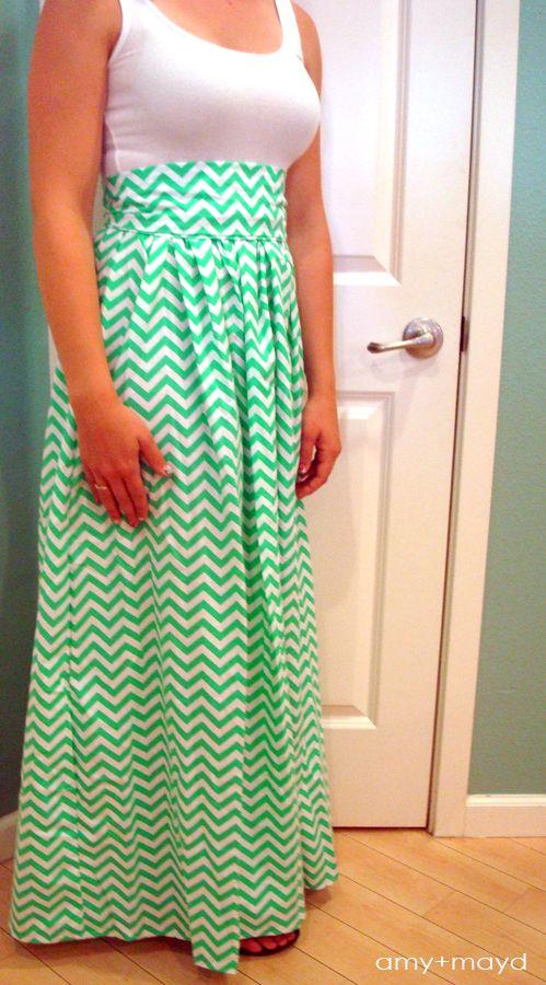 maxi dress tutorial high waist. I would make a knee length one